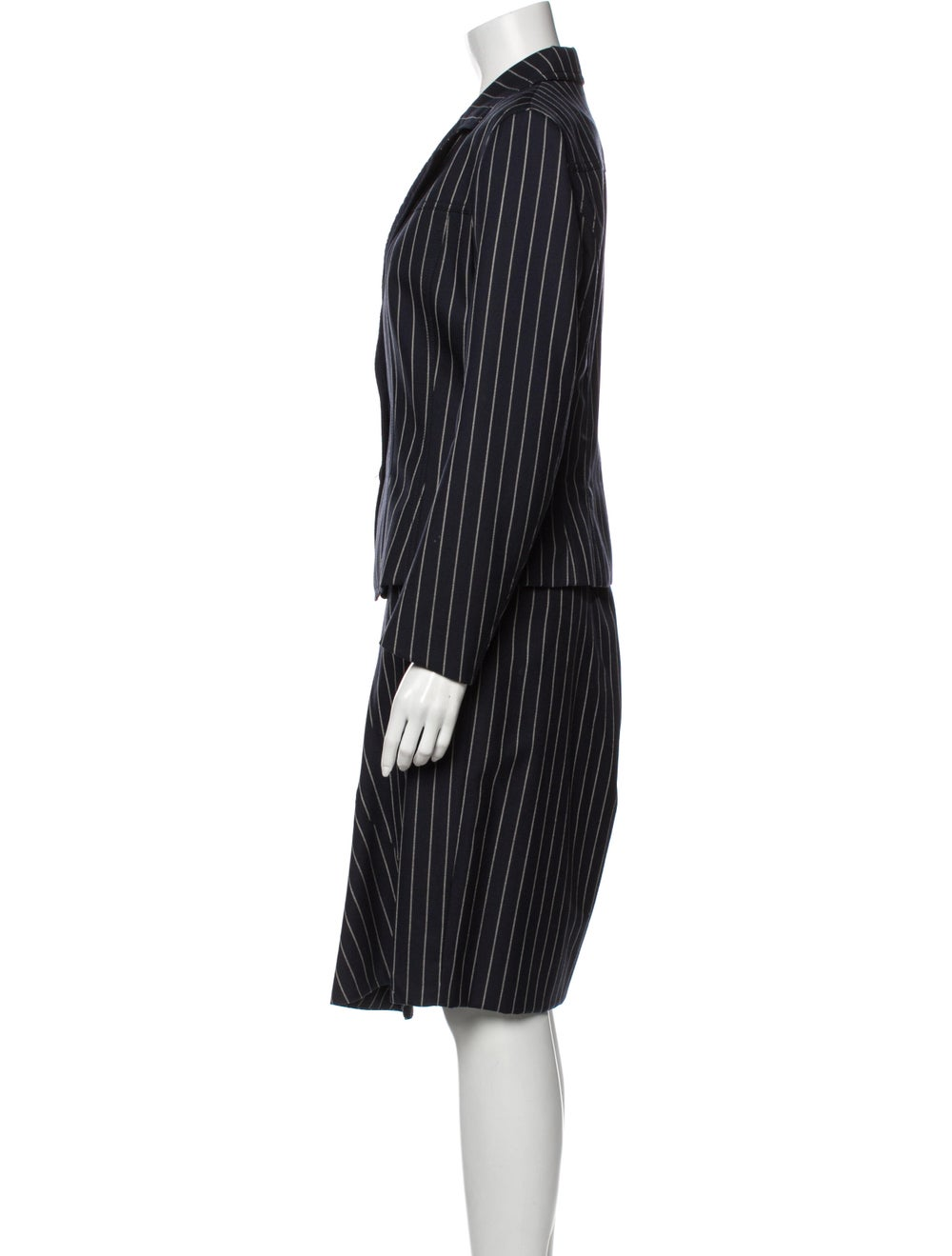John Galliano Wool Striped Skirt Suit Wool - image 2