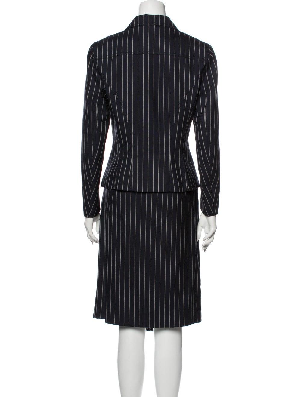 John Galliano Wool Striped Skirt Suit Wool - image 3