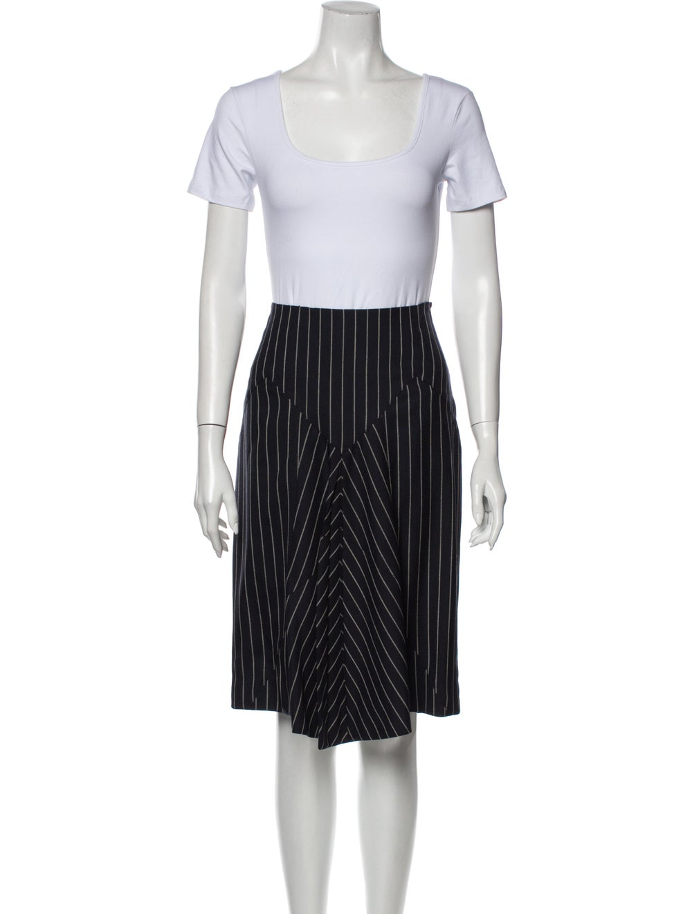 John Galliano Wool Striped Skirt Suit Wool - image 4