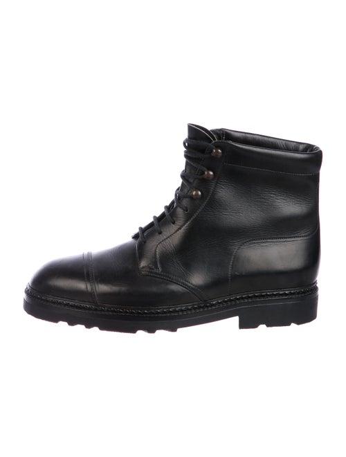 John Lobb Leather Ankle Boots black
