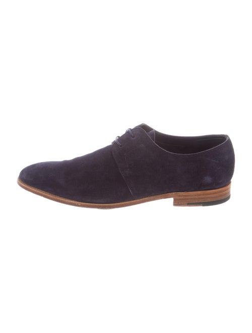 John Lobb Suede Derby Shoes Blue - image 1