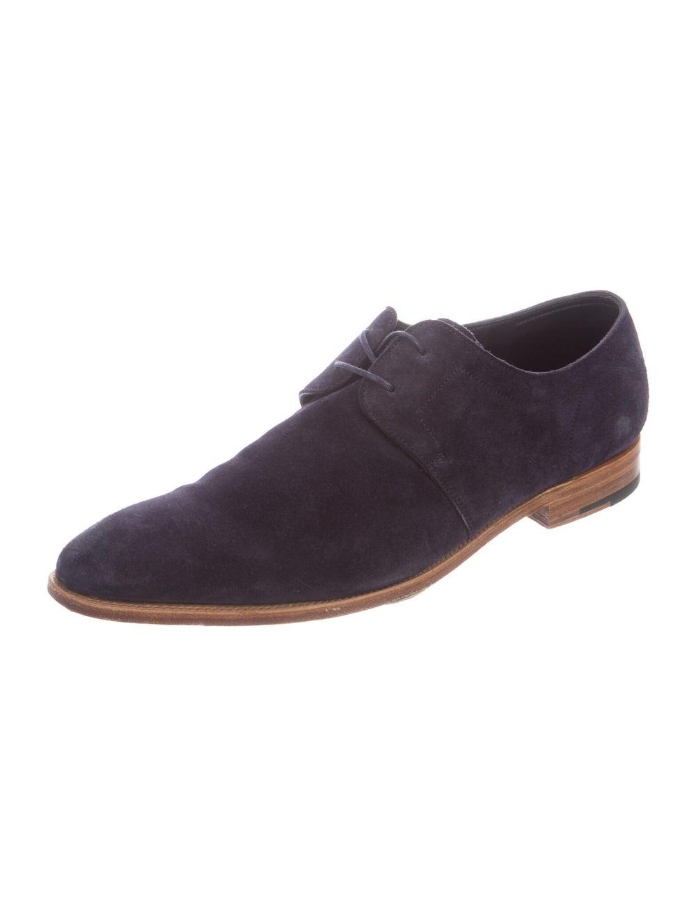 John Lobb Suede Derby Shoes Blue - image 2