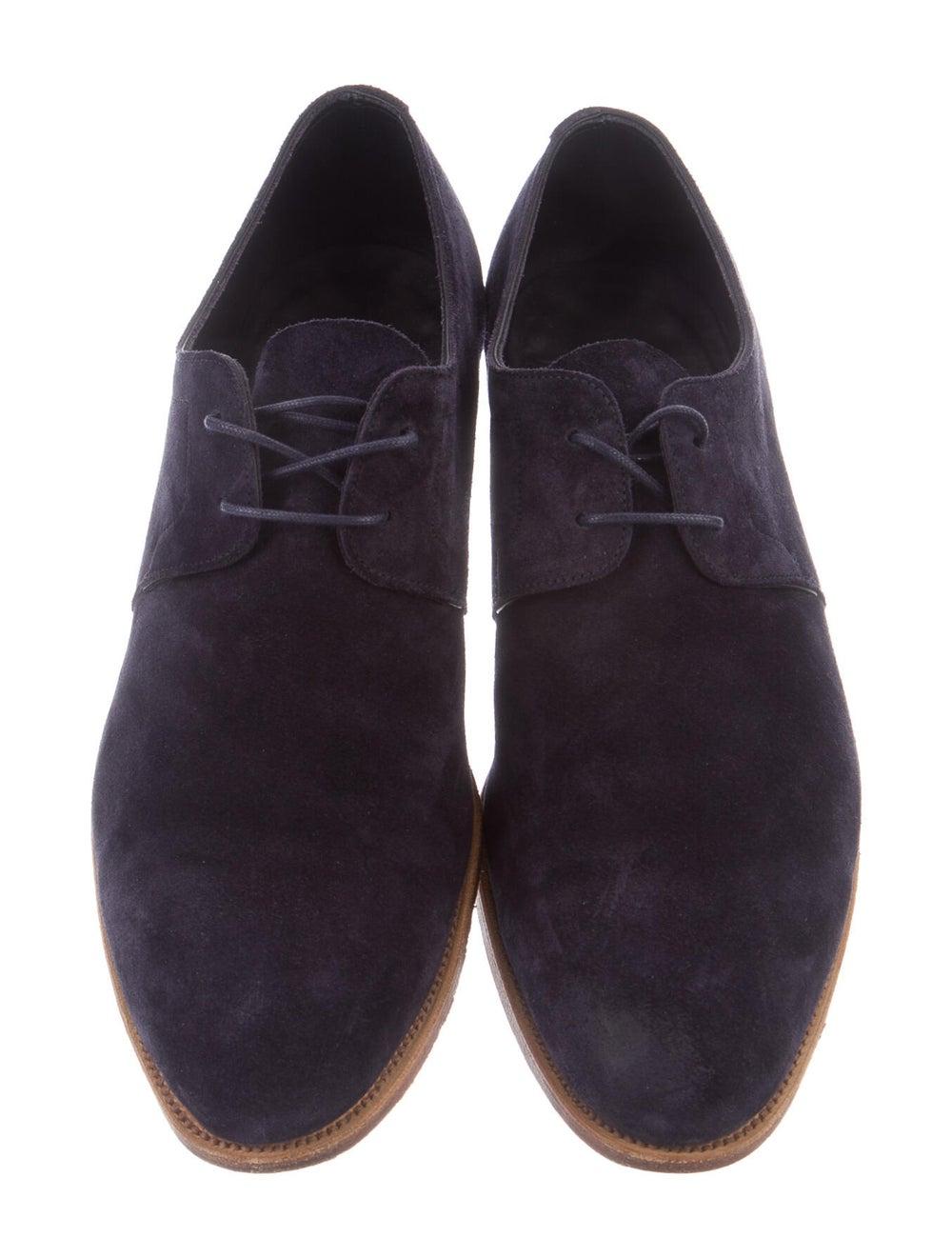 John Lobb Suede Derby Shoes Blue - image 3