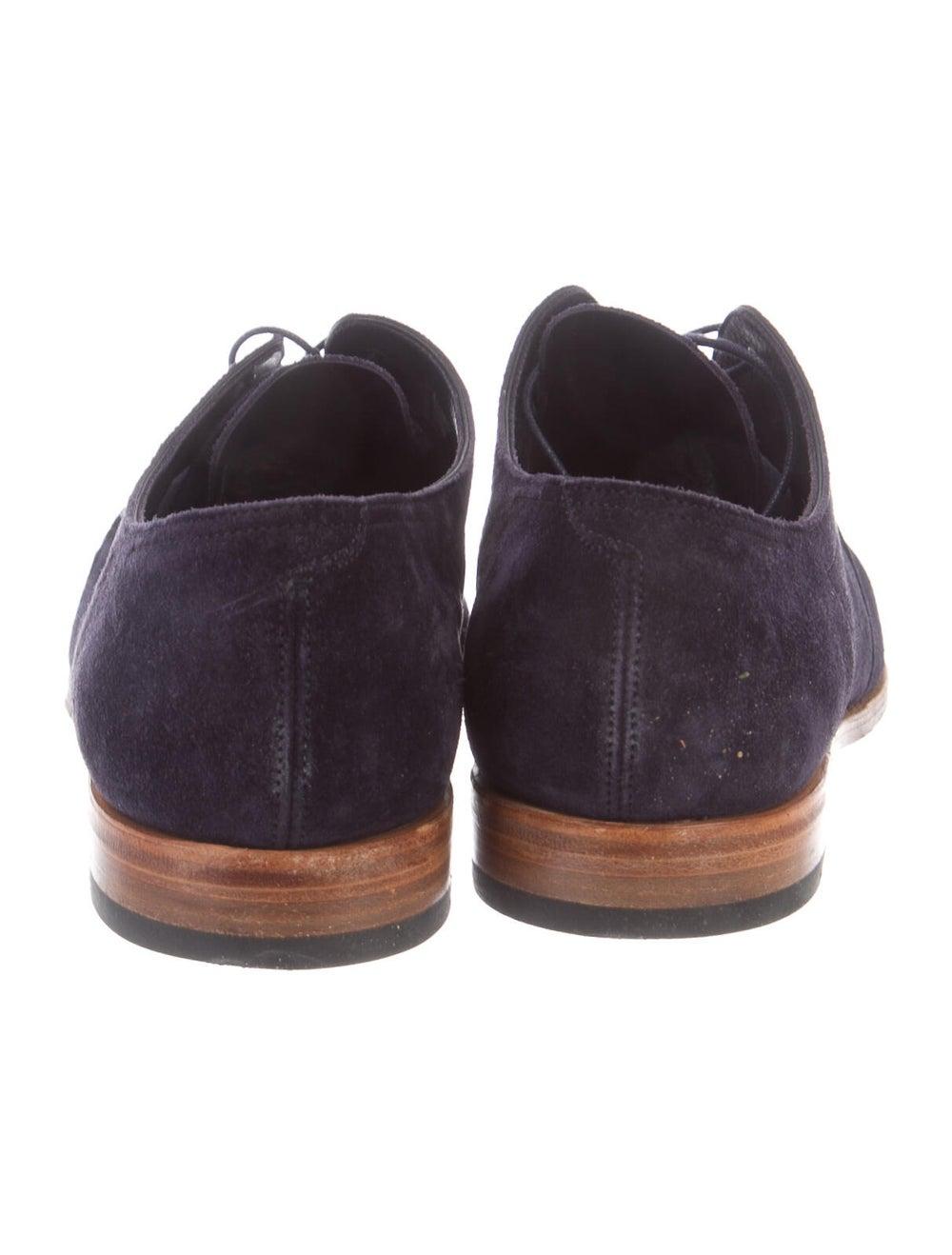 John Lobb Suede Derby Shoes Blue - image 4