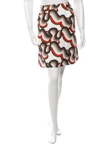 Jonathan Saunders printed A-Line Skirt