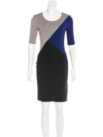 Jonathan Saunders Colorblock Sheath Dress