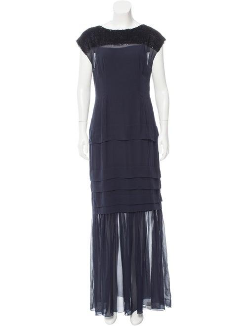 Jonathan Saunders Embellished Silk Dress Navy