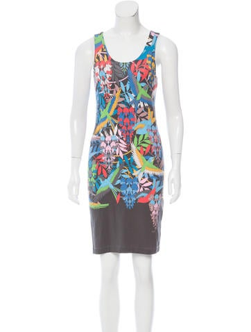 Jonathan Saunders Floral & Bird Print Bodycon Dress None