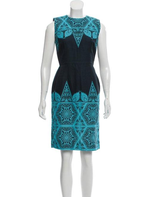Jonathan Saunders Printed Sheath Dress blue