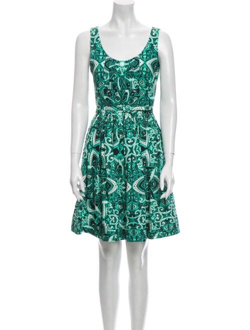 Jonathan Saunders Printed Mini Dress Green