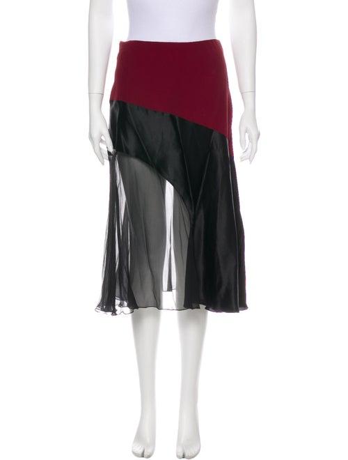 Jonathan Saunders Knee-Length Skirt Black