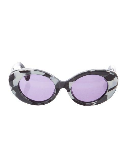 Jonathan Saunders Round Tinted Sunglasses Black