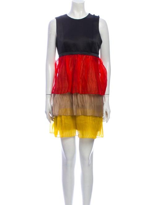 Jonathan Saunders Silk Mini Dress Black