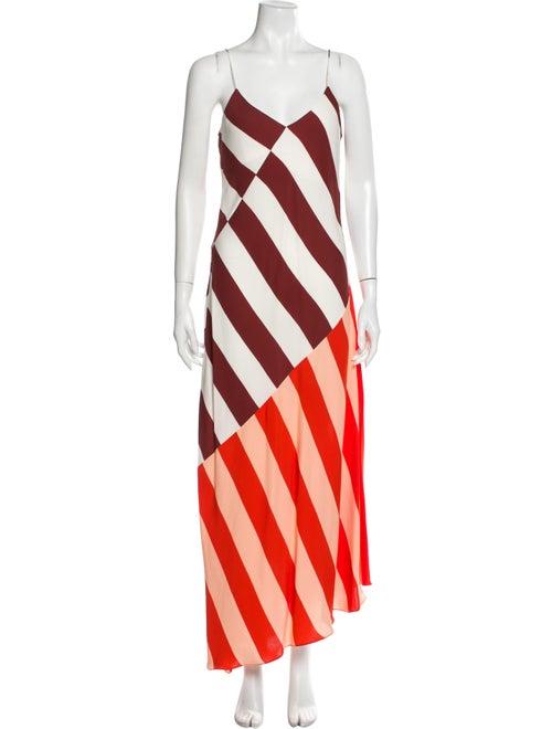 Jonathan Saunders Striped Long Dress