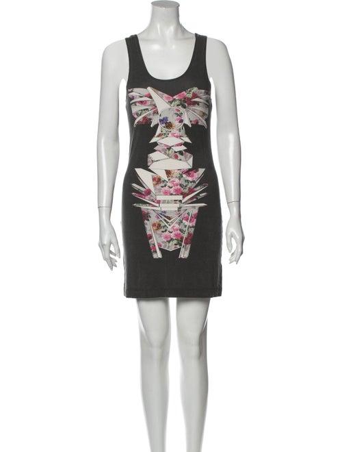 Jonathan Saunders Printed Mini Dress Grey