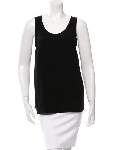 Joseph Sleeveless Crepe Top None