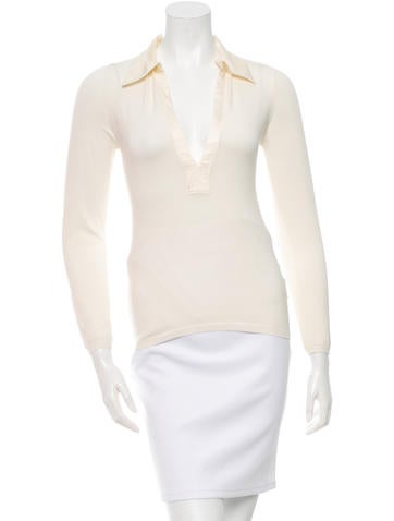 Joseph Silk Collared Top None