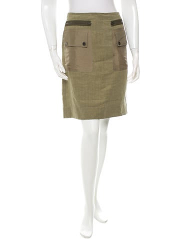 Linen Knee-Length Skirt