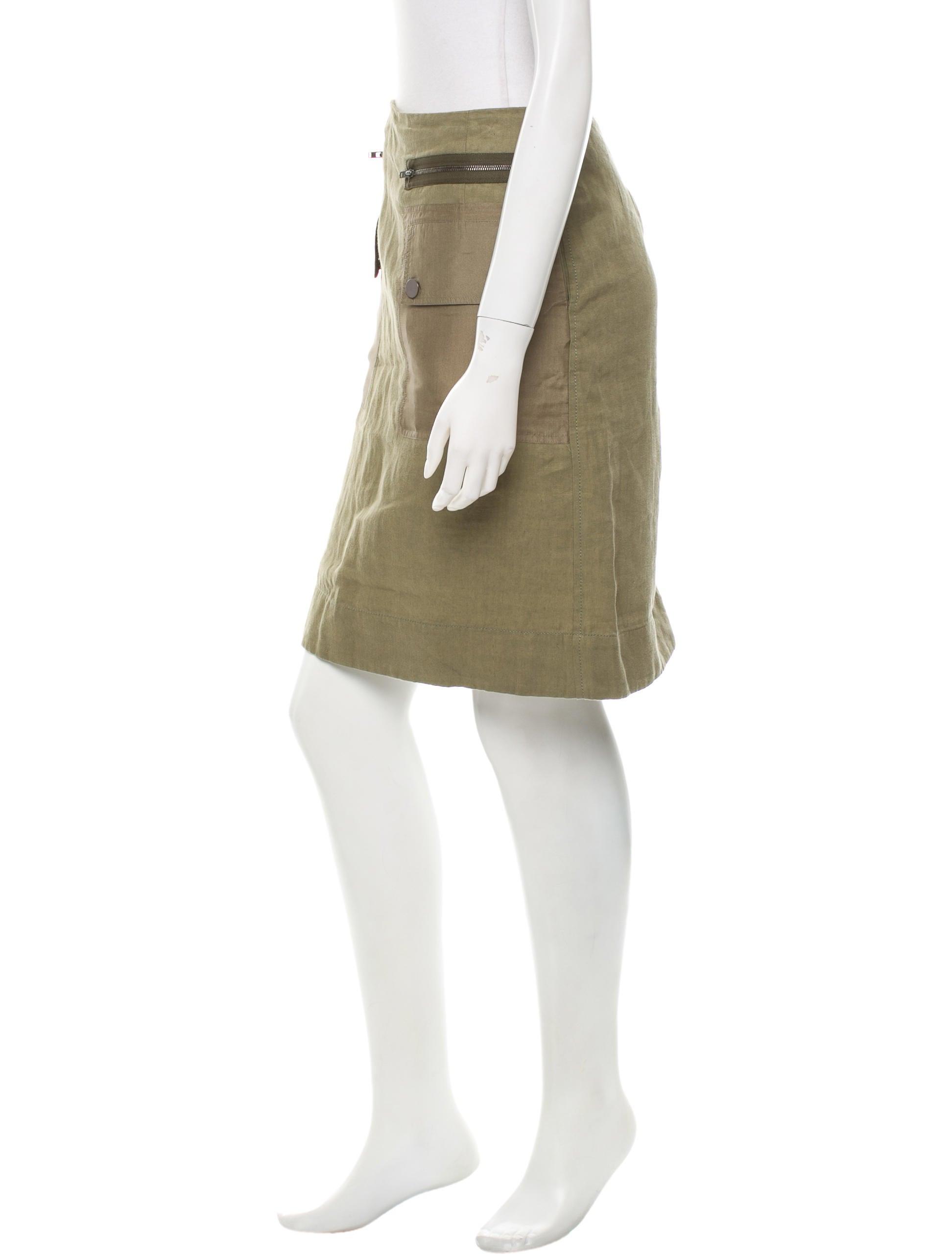 joseph linen knee length skirt clothing jos22526 the
