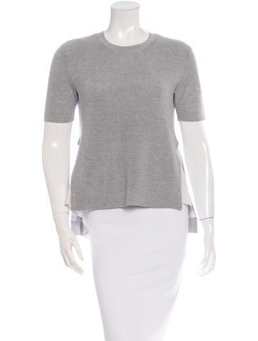 Joseph Short Sleeve Wool Top None