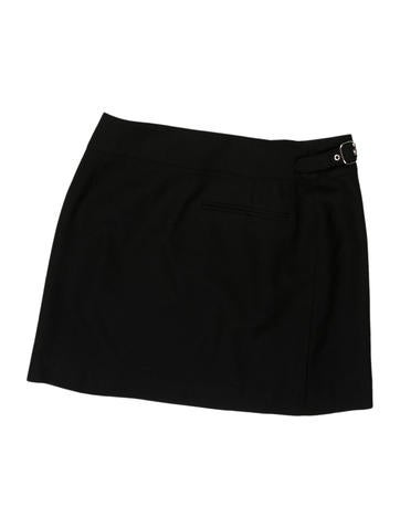 Buckle-Accented Mini Skirt
