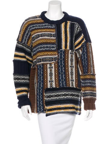 Joseph Patterned Wool Sweater None