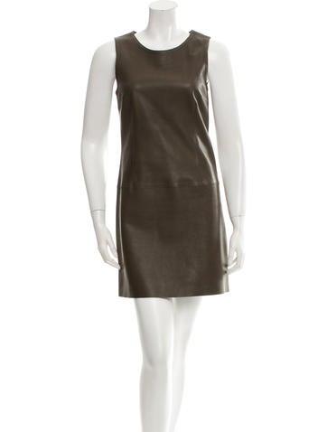 Joseph Sleeveless Leather Dress None