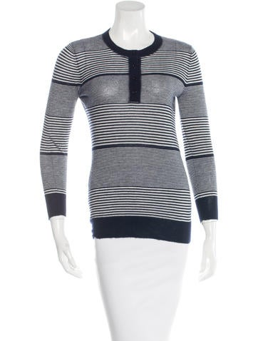Joseph Cashmere Striped Top None