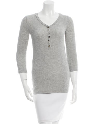 Joseph Embellished Rib Knit Top None