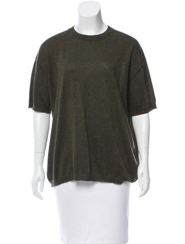 Joseph Metallic Cashmere Sweater None
