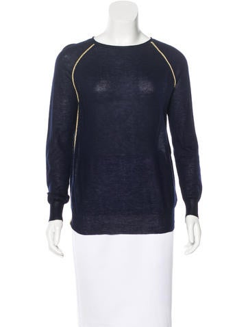 Joseph Raglan Sleeve Cashmere Top None