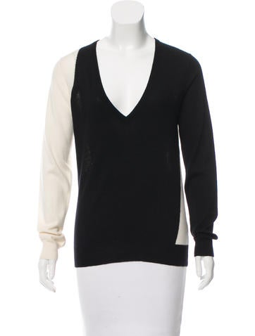 Joseph Two-Tone Cashmere Sweater None
