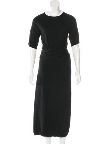 Joseph Tie-Accented Maxi Dress None