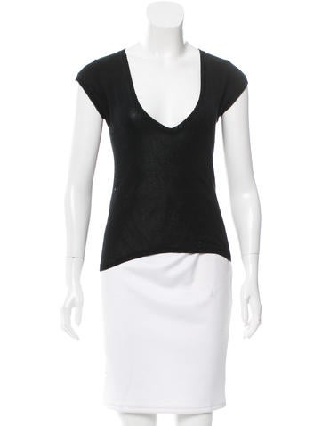Joseph Knit V-Neck Top None