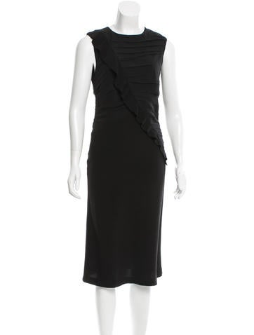 Joseph Pleat-Accented Midi Dress None