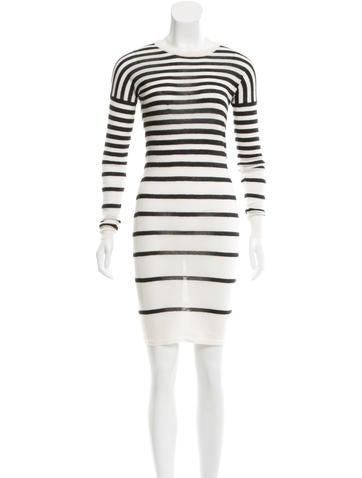 Joseph Cashmere Striped Dress None