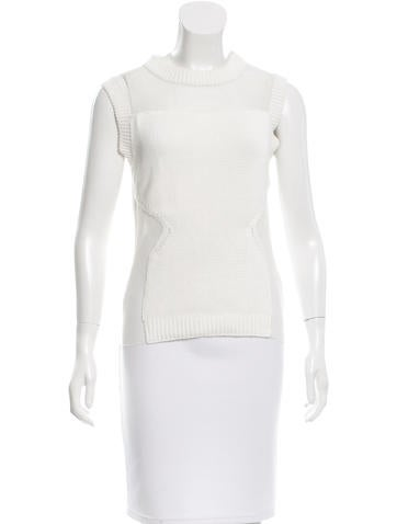Joseph Knit Mesh-Accented Top None