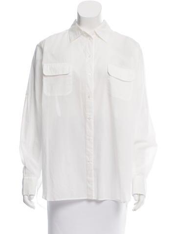 Joseph Oversize Button-Up Top None
