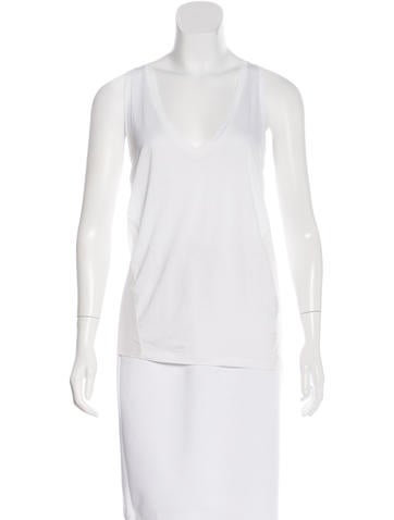 Joseph Sheer Sleeveless Top None