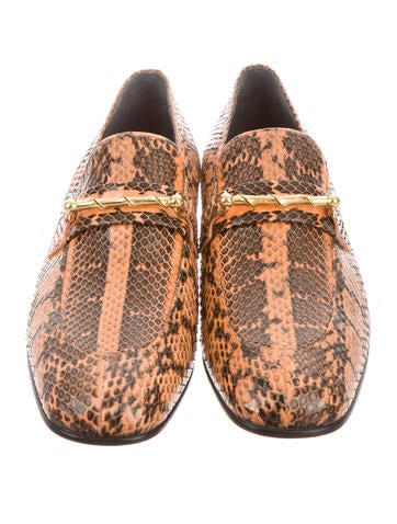 Snakeskin Embellished Loafers w/ Tags