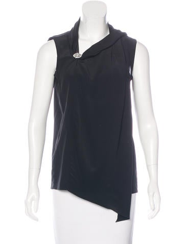 Joseph Silk Sleeveless Top None