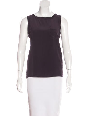 Joseph Sleeveless Silk Top None