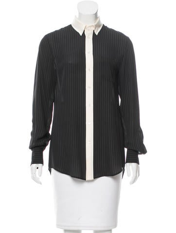 Joseph Silk Button-Up Top None