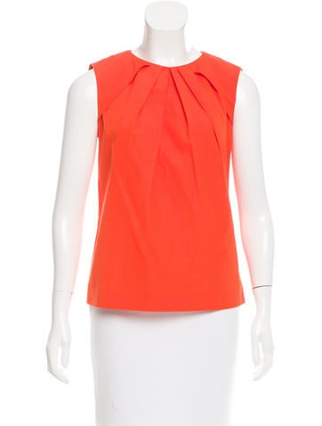 Joseph Pleat-Accented Sleeveless Top None