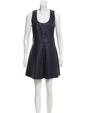 Joseph Leather Mini Dress None