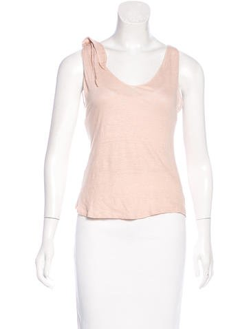 Joseph Sleeveless V-Neck Top None