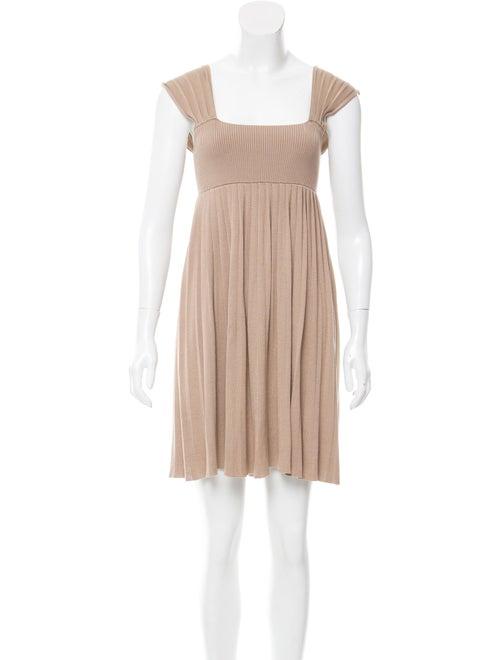 Joseph Silk Knit Dress Tan