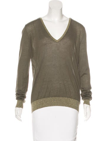 Joseph Cashmere V-Neck Top None