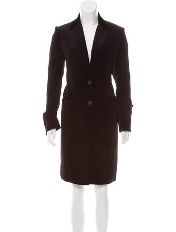 Joseph Velvet Knee-Length Coat None