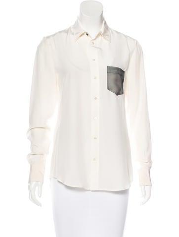 Joseph Silk Button-Up Top None